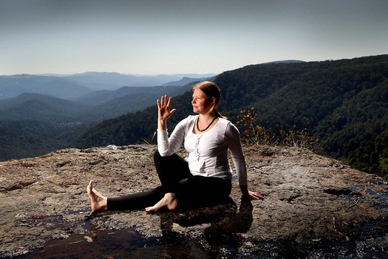 Yoga Twist at Yoga Retreat Springbrook