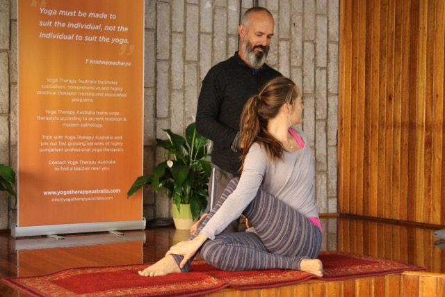 Yoga therapy with Brisbane yoga therapist Craig Smith